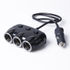 China Cigarette Lighter Car Charger 1 Male to 3 Female for sale