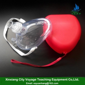 China mouth to mouth emergency disposable medical training plastic cpr face mask on sale