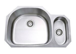 China 80/20 Undermount Double Bowl Stainless Steel Kitchen Bathroom Sinks, 18Gauge And 16 Gauge, SS-3121AL on sale