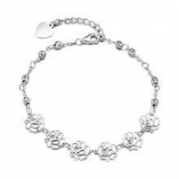 China Gemnel 925 sterling silver hollow rose flower bracelet for women price on sale