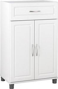 China SystemBuild Kendall 24 1 Drawer/2 Door Base Storage Cabinet, White Stipple on sale
