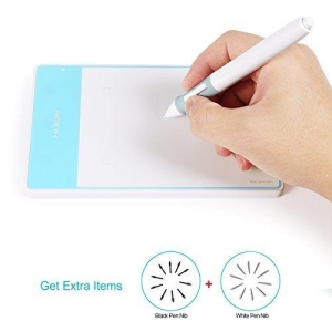 China Huion 2048 Levels Pen Digital Art Tablet 420 WhiteBlue for Signature or OSU - 420WB on sale
