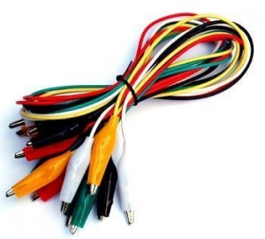 China Small Alligator Clip Test Lead Set of 10 Cables 2 ft on sale