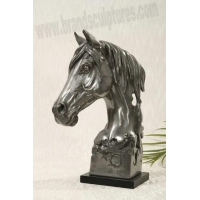 China Large Life-size Fiberglass Horse Animal Sculpture as Home Ornament on sale