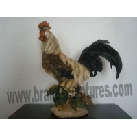 China Large Realistic Resin Cock Animal Sculpture as Yard Decor on sale
