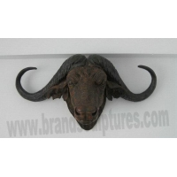 China Large Beautiful Fiberglass Cattle Head Resin Garden Statues on sale