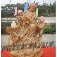 China Kind Virgin Mary Bronze Garden Statue as Outdoor Ornaments on sale