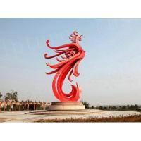 China Outdoor Amazing Metal Steel Phoenix Animal Modern Art Sculptures on sale