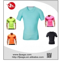 Men Compression T Shirts Men Sports Apparel Skin Tights round neck Running T-shirt