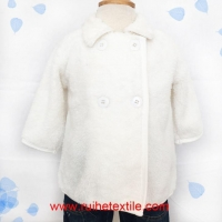 Fashion Infant Coral Fleece Clothes Winter Baby Girl Coat