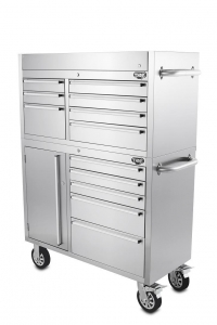 China Hyxion 41 Inch Professional Stainless Steel Tool Box Roller Cabinet on sale