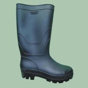 China Mens PVC/Rubber Safety Rain Shoes Gumboots For Sale Steel Toe Work Boots Resistant Oil on sale