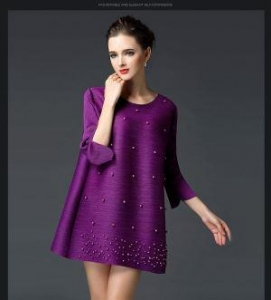 China Plus Size Women Casual Wear Tops With Crochet Purple on sale