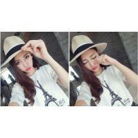 Women and Men Fashion Headwear Jazz Caps Straw Fedora Hat Wholesale