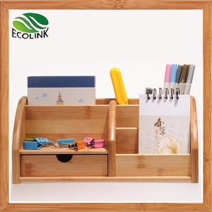 China Eco-friendly Bamboo Space Saving Desk Storage Caddy Organizer Accessories on sale