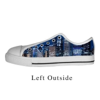 Custom Famous Building Canvas Shoes Comfortable Sneakers