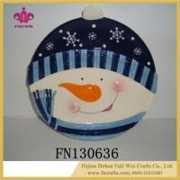 China Pottery Ceramic Santa Snowman Home Decorative Ornaments on sale