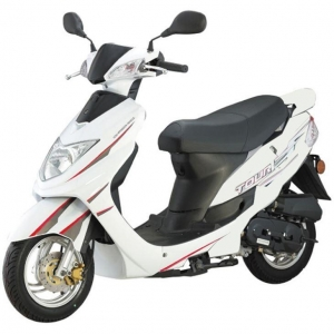 China Adults White Mini Electric Moped Scooter for Sale on sale