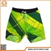 China Best Polyester Green Cross Wire Drawing Anti-uv Mens Swimwear Board Shorts for sale