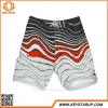 China White Wave Swim Striped Drawing Board Trunks Shorts Swimwear For Men OEM Brands for sale