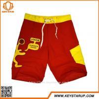 Boaring Swimwear OEM Service Youth Men Red Anti-uv Special Design Board Shorts