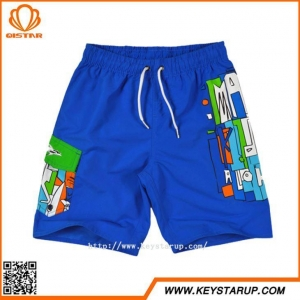 China Customized Wholesale Colored Kids Heat-Transfer Printing Boys Cute Board Swimming Shorts on sale