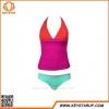 China Bulk Women Swimwear Constrast Color Sexy Tankini Patchwork Cheap Swimsuit for sale