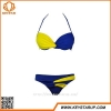 China Ladies Contrast Color Design Swinwear Sexy Girls Bikini Hot Sale Bathing Suit Custom Made for sale