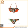 China Brazilia Newest Style Women Bikini Hot Flower Swimwear Waterproof Beachwear OEM Custom for sale