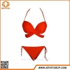 China Nice Orange Color Women's Tie Side Bottom Triangle Bikini Swimsuits for sale