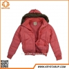 China Factory Direct Jacket With Fur Hood Windbreaker Solid Lady Outerwear Pink Zipper Overcoat for sale