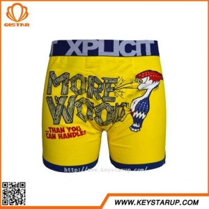 China Best Quality Mens Boxers Funny Cartoon Printed Mens Underwear Boxer Shorts for Men on sale