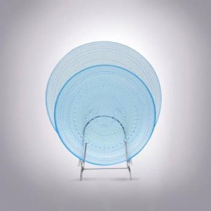 China Colored Glass Dinnerware|light Blue Color Glass Plates Wholesale on sale