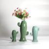 China Set 3 Narrow Vase Cactus Shaped Vase for Dcor for sale