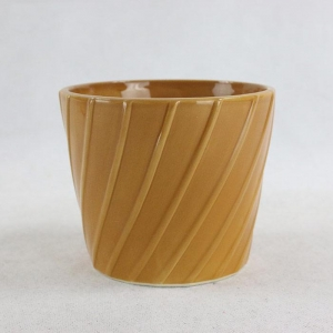 China Brown ceramic flower pots on sale