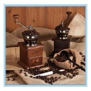 China Solid Wood Hand Coffee Grinder Grinding Machine Hand Coffee Machine Mill on sale