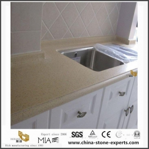 China Quality Beige Quartz Stone Countertops Options with Best Price from Countertop Factory on sale