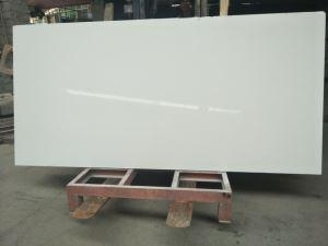 Quality Man-made Artificial White Quartz Surface With Tiny Grain, Engineered Pure White Quartz Stone Slabs for sale