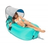 China Hot Sell Pool Float Bed Inflate Sofa Swimming Airbag With Sun Canopy for sale