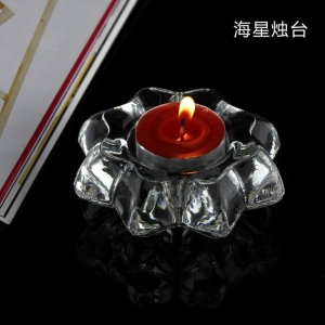 China Machine Made High Quality Crystal Glass Candle Holder Candle Jar on sale