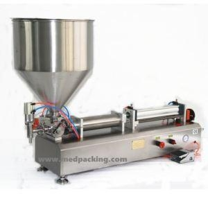 China china 10-300ml Full-Pneumtic Filling Machine Single Head For Peanut Butter Or Paste Thick Liquid on sale