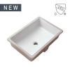 China Cheap Modern Rectangular Undermount Bathroom sink Bowl Sinks White Ceramic Basin, SS-N1912 for sale