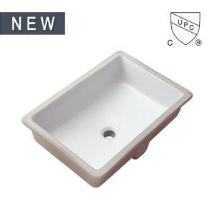 China Cheap Modern Rectangular Undermount Bathroom sink Bowl Sinks White Ceramic Basin, SS-N1912 on sale