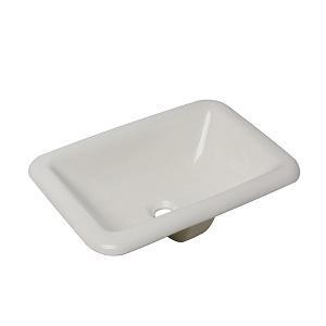 China Rectangle Bisque Bathroom Drop in Rangemaster Single Bowl Inset Ceramic Sink Pedestal Wash Basin Cou on sale