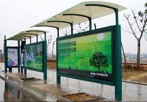 China Bus Shelter Bus Stop Shelter Bus Station With Light Box on sale