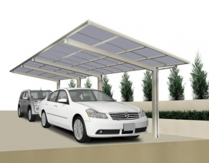 China Car Metal Frame Attached Aluminium Carport on sale