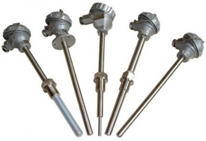 China Sheathed Platinum Resistance Temperature Detector with Flange on sale