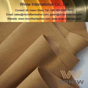 China Microfiber Synthetic Suede Leather Material on sale