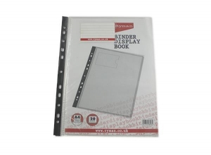 China A4 Clear Holder Plastic Pocket Display Book on sale