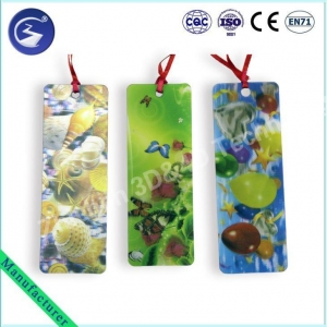 China 3D Lenticular sea shell printed Bookmark on sale